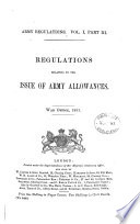 Regulations relating to the issue of army allowances