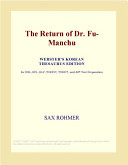 The Return of Dr  Fu Manchu  Webster s Korean Thesaurus Edition