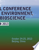 INTERNATIONAL CONFERENCE on FRONTIERS of ENVIRONMENT  ENERGY and BIOSCIENCE
