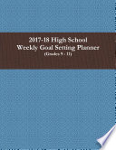 2017 18 High School Weekly Goal Setting Planner