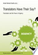 Translators Have Their Say