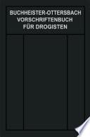 Vorschriftenbuch f  r Drogisten