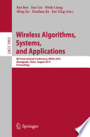 Wireless Algorithms Systems And Applications book