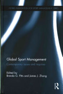 Global Sport Management: Contemporary Issues and Inquiries