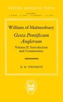Gesta Pontificum Anglorum  Commentary