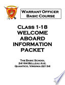 United States Marine Corps - The Basic School - Warrant Officer Basic Course Materials  Wobc 1 18 Information Congratulations On Your Selection As