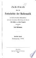 Jahrbuch über die Fortschritte der Mathematik