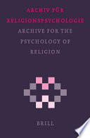 Archiv Fur Religionspsychologie/Archive for the Psychology of Religion