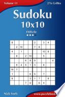 illustration Sudoku 10x10 - Difficile - Volume 11 - 276 Grilles