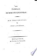 Die Familie Schroffenstein Trauerspiel In 5 Aufz