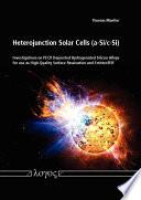 Heterojunction Solar Cells (a-Si/c-Si)