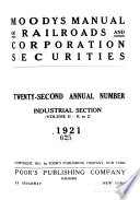 Moody S Manual Of Railroads And Corporation Securities