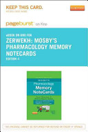 Mosby s Pharmacology Memory Notecards Pageburst E book on Kno Retail Access Card
