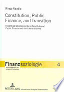 Constitution  Public Finance  and Transition