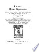 Rational Home Gymnastics for the  well  and the  sick