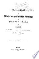 Verzeichniss der bibliothek und handschriftlichen sammlungen des Vereins für geschichte und landeskunde von Osnabrück