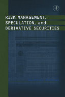 download ebook risk management, speculation, and derivative securities pdf epub