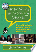 Talk For Writing In Secondary Schools