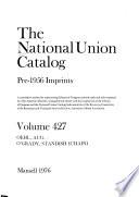 The National union catalog  pre 1956 imprints