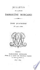 Bulletin de la librairie Damascène Morgand