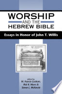 Worship and the Hebrew Bible