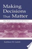 Making Decisions That Matter Book PDF