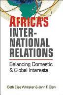 Africa S International Relations