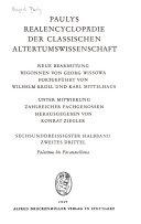 Paulys Realencyclopädie der classischen Altertumswissenschaft
