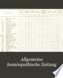 Allgemeine homöopathische Zeitung