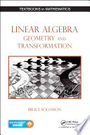 Linear Algebra  Geometry and Transformation