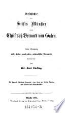 Geschichte des Stifts Münster unter Christoph Bernard von Galen