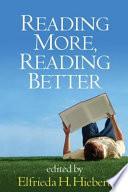 Reading More  Reading Better