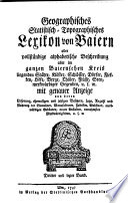 Geographisches statistisch-topographisches Lexikon von Baiern