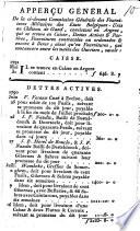 Apperçu Général De la ci-devant Commission Générale des Fournitures Militaires des Etats Belgiques-Unis au Château de Gand, ...