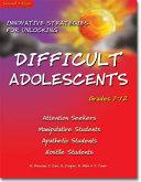 Innovative Strategies for Unlocking Difficult Adolescents
