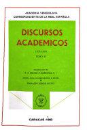 Discursos académicos: 1971-1978
