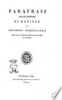 Parafrasi dei libri de  Profeti di Antonino Barcellona     tomo 1    5