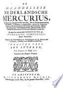 De Maandelykse Nederlandische Mercurius