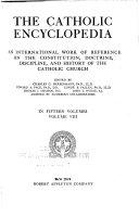 The Catholic Encyclopedia book