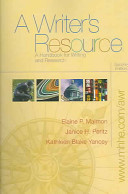 A Writer s Resource  spiral  with Student Access to Catalyst 2  0