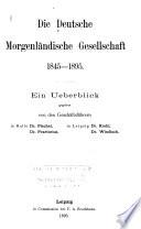Zeitschrift der Deutschen Morgenl  ndischen Gesellschaft
