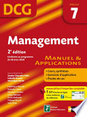 Management - 2e édition - DCG - épreuve 7 - Manuel et applications