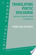 Translating Poetic Discourse
