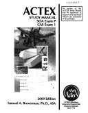 Actex study manual