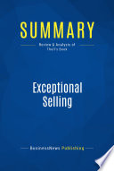 Ebook Summary: Exceptional Selling Epub BusinessNews Publishing Apps Read Mobile