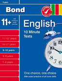 Bond 10 Minute Tests 9-10 Years