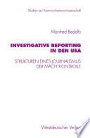 Investigative Reporting in den USA