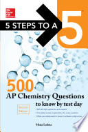 McGraw Hill Education 500 AP Chemistry Questions to Know by Test Day  2nd edition