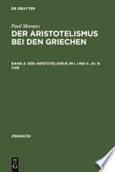 Der Aristotelismus im I  und II  Jh  n Chr