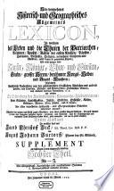 Neu-vermehrtes Historisch- und Geographisches Allgemeines Lexicon